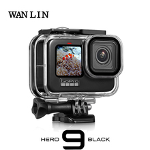 60M su geçirmez kılıf için GoPro Hero 9 siyah koruyucu dalış sualtı konut kabuk kapak git Pro 9 kamera aksesuar