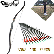 Crossbows Target Hunting Archery 60 Inch Detachable Recurve Bow 30-60 lbs Right Hand Bow for Shooting and Hunting 60 inches recurve bow hybrid bow 30 70 lbs in black camo for right hand user archery bow shooting hunting