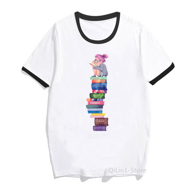 Women Clothes 2020 Vintage T Shirt Matilda Roald Dahl Watercolour Illustration Print T-Shirt Book Lovers Casual Tops Cute Tees
