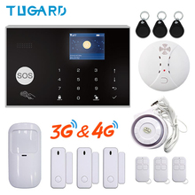 Tuya Smart Alarm System GSM Wireless 433MHz WIFI 3G&4G SMS Home Burglar Security Alarm System Hotel 3G Alarm System app Control wireless gsm alarm home security sms controller king pigeon 4 inputs 2 outputs usb port 2 way communication s140 sms controller