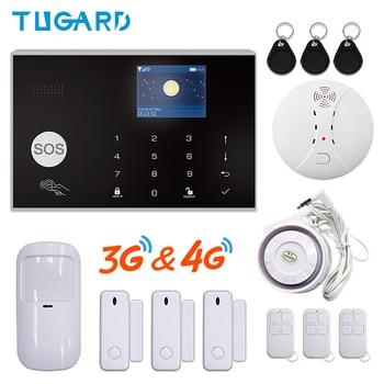 Tuya Smart Alarm System GSM Wireless 433MHz WIFI 3G&4G SMS Home Burglar Security Alarm System Hotel 3G Alarm System app Control