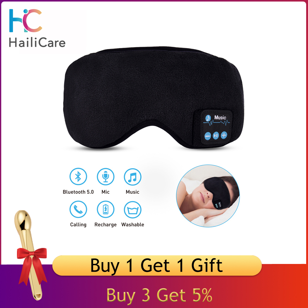 Rechargeable Wireless Music  5.0 Bluetooth Relaxation Sleeping Eye Mask Relax Headband Soft Earphones Eye Mask Music Headset