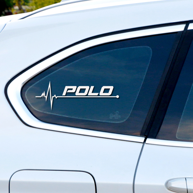1PCS New Heart Car Sports Decal Sticker Styling Windows Door Decoration For Volkswagen POLO Scirocco CC GOLF Tiguan accessories
