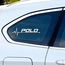 1PCS חדש לב מכונית ספורט מדבקות מדבקת סטיילינג Windows דלת קישוט עבור פולקסווגן פולו Scirocco CC גולף Tiguan אבזרים