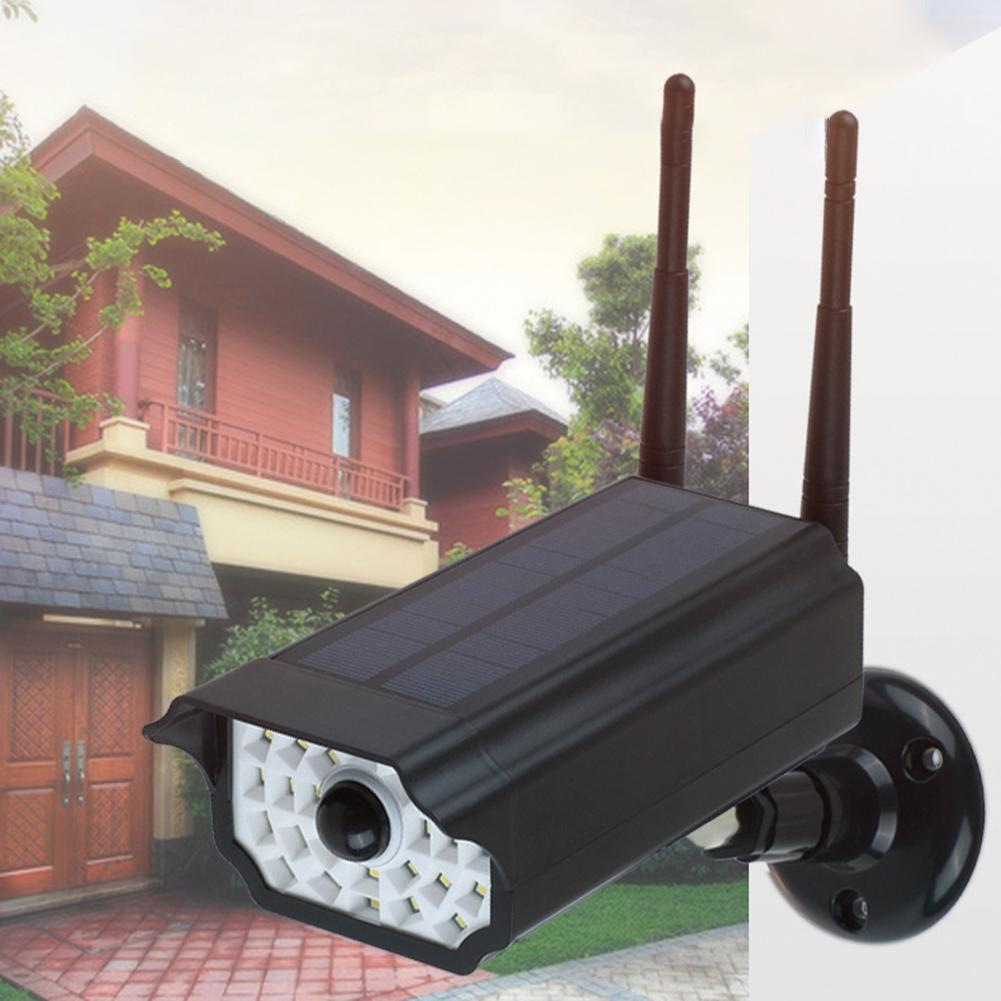 Waterproof Fake Dummy Dome Home Security Solar Camera Simulated IP Camera Built-in 18650 Battery Surveillance LED Light