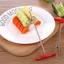 2019 Vegetables Spiral Knife Carving Tool Potato Carrot Cucumber Salad Chopper Manual Spiral Screw Slicer Cutter Spiralizer