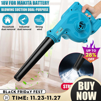 680W Cordless Electric Air Blower Vacuum Cleannig Blower Leaf Computer Dust Collector Power Tool For Makita 18V Li-ion Battery 220v 680w air blower computer cleaning electric dust removal colletctor air blower cleaner for computer furniture and car