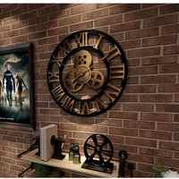 Industrial Gear Wall Clock Decorative Retro Metal Wall Clock Industrial Age Style Room Decoration Wall Art Decor