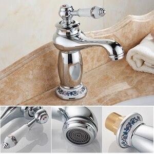 Image 5 - MOLI Bathroom Sink Faucet Gold Basin Single handle Faucets Diamond Water Mixer Crane Hot Cold Chrome Bath Brass Mixer Tap ML201