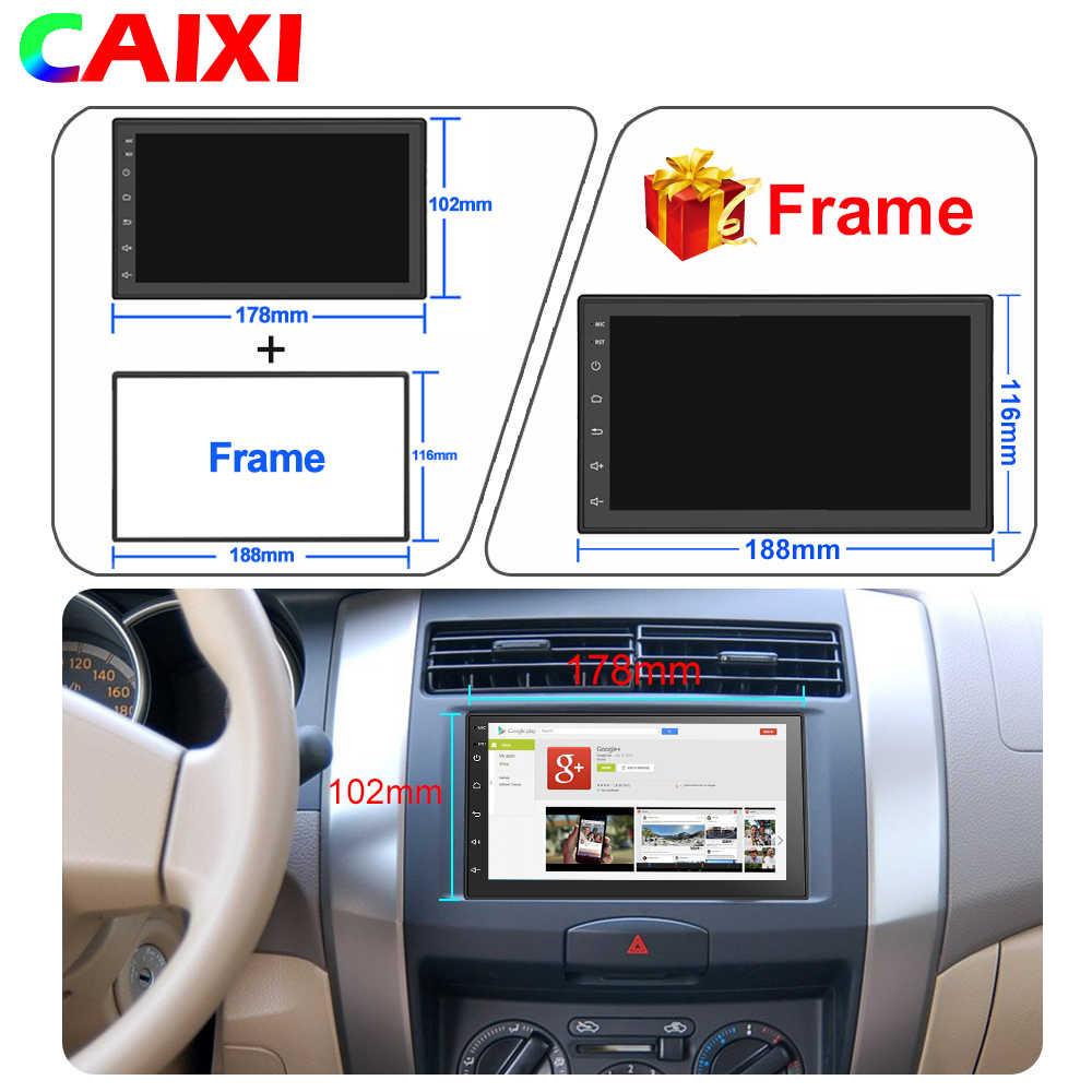 Coche Android 8,1 2 Din radio coche Universal estéreo reproductor de vídeo Multimedia GPS mapa para toyota Nissan Volkswagen Hyundai kia