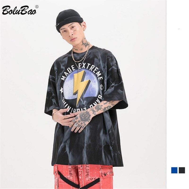 BOLUBAO Men's T Shirts Brand Summer Men EU Size Original Hip Hop Youth Tee Top High Quality Loose Skateboard Style T-Shirt Male
