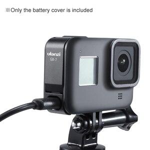 Image 4 - Ulanzi G8 7 アクションカメラバッテリーカバー蓋取り外し可能タイプ C ポートアダプタの充電アルミ合金移動プロヒーロー黒 8
