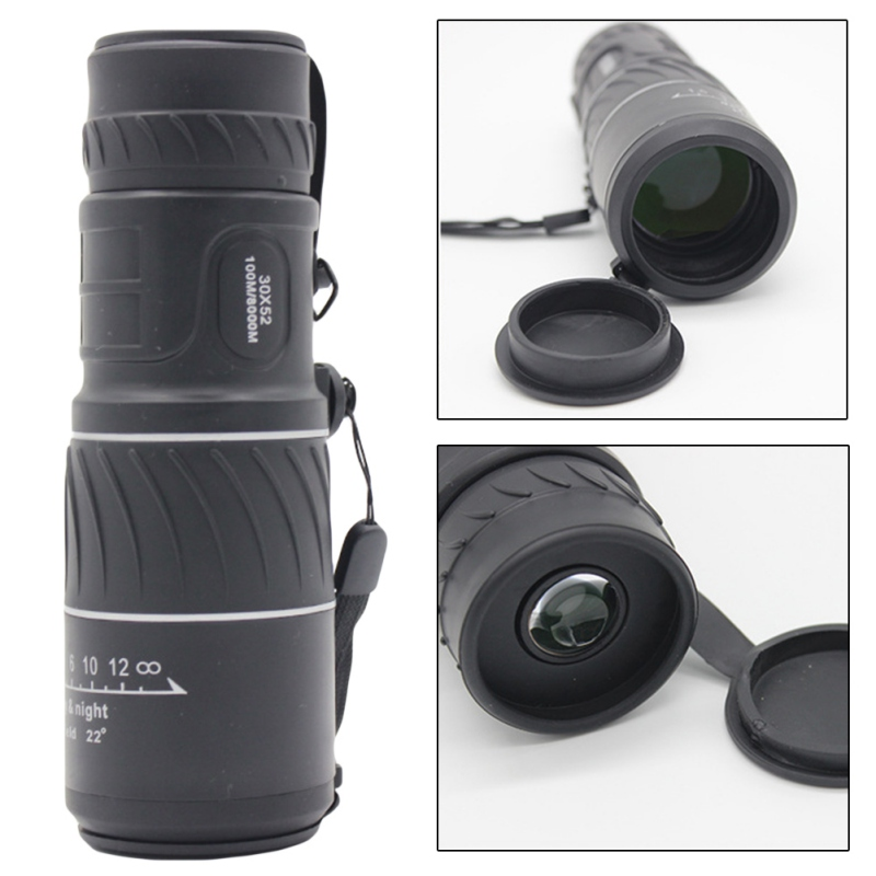 NEW High Quality Portable Hunting <font><b>30</b></font> × <font><b>52</b></font> High Magnification Outdoor Portable Monocular Magnification Lens image
