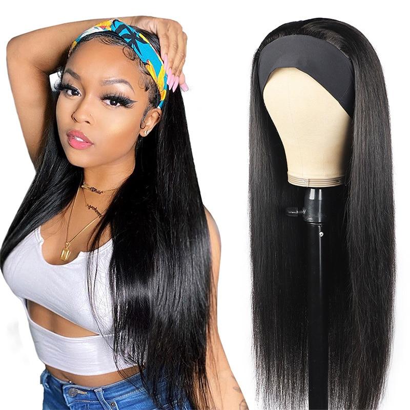 Perucas de cabelo humano barato perucas de cabelo humano para mulheres malaio em linha reta perucas de lenço glueless perucas feitas à máquina 150% remy