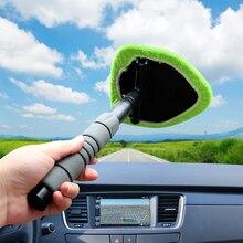 LEEPEE limpiador telescópico de microfibra para ventanas, limpiador para ventanas de automóviles, eliminador de niebla, cepillo de limpieza para parabrisas