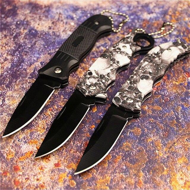 PEGASI CS claw knife quick folding knife 440C acrylic wood handle pocket folding knife camping hunting survival EDC tool 4