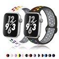 Мягкая силиконовая лента для Apple Watch Series 1 2 3 42 мм 38 мм, резиновый ремешок для iWatch 4/5/6/SE 40 мм 44 мм