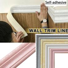 TV Background Wall Border Self-adhesive Wall Stickers Stickers Strip Waist Line Line Skirting Wallpaper Decorative Ceiling Z9Q9