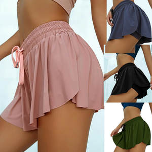 Solid Shorts Anti-Light Lace-Up Ruffle Two-Piece Hot-Sale Beach Fashion Summer Casual