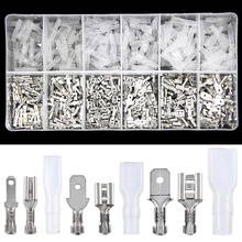 450PCS 2.8/4.8/6.3mm Assorted Automotive Splice Crimp Terminals Insulated Electrical Wire Butt Connectors Kit Female Male Spade