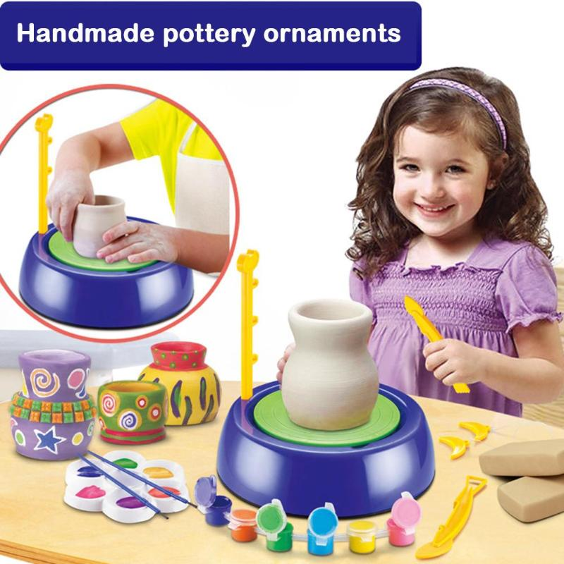 DIY Pottery Toy Educational Ceramic Machine Mini Arts Craft For Kids Gift Develop Children's Thinking And Creativity