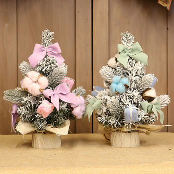 Christmas Decorations Potted Tree Bonsai Tree Pink Blue Christmas Tree Desktop Ornaments Ornaments for Home Desktop Decorations