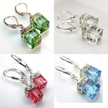 Fashion 925 Sterling Silver Female Earrings High-end Stereo