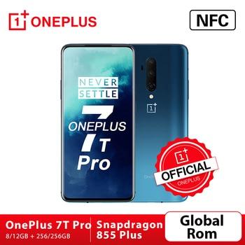Перейти на Алиэкспресс и купить В наличии OnePlus 7T Pro Global ROM Snapdragon 855 Plus 8 Гб 256 ГБ 6,67 ''жидкий AMOLED 90 Гц экран 48MP Тройная камера 4085mA