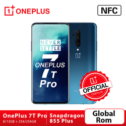 OnePlus 7T Pro OnePlus Official Store Global ROM Snapdragon 855 Plus 8GB 256GB 6.67'' Fluid AMOLED 90Hz Screen 48MP Triple Cam
