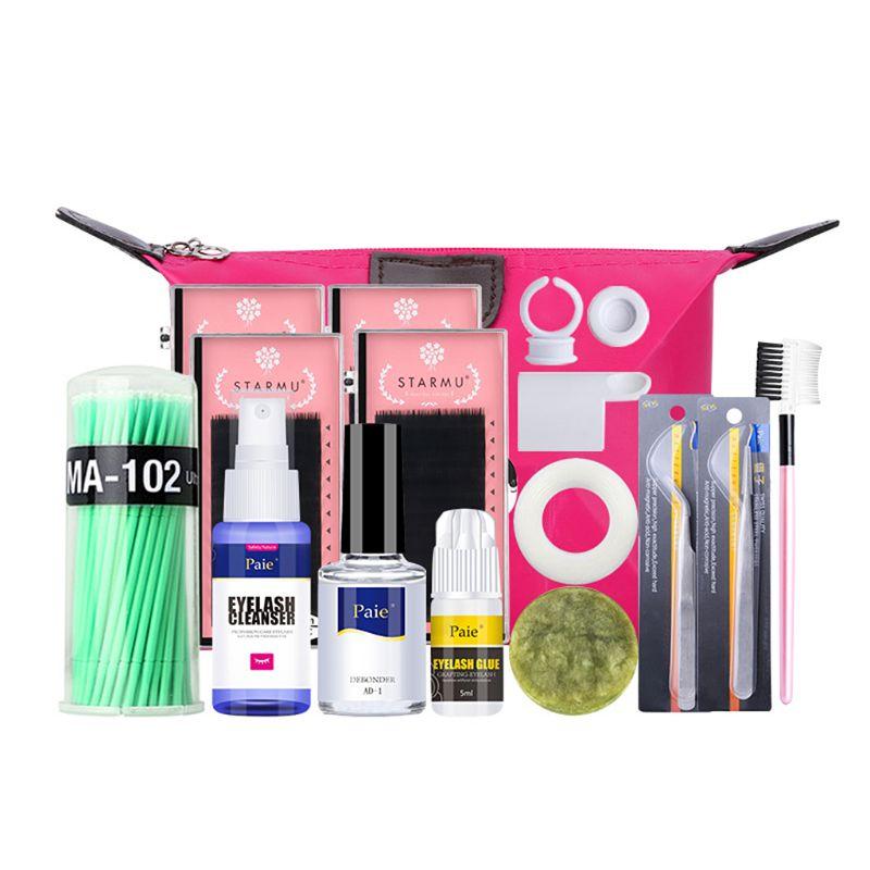 Набор для обучения наращиванию накладных ресниц, набор для практики наращивания ресниц, инструмент для макияжа