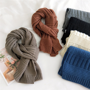 New Couple Scarf Keep Warm Long Scarves Winter Knitted Scarf Female Shawl Wraps Solid Color Scarves Unisex Thickened Scarf