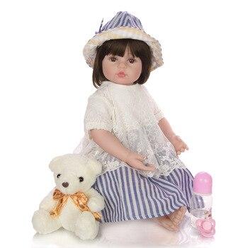KEIUMI 24 Inch real baby Reborn toddler doll 60 cm Soft  Silicone vinyl Realistic Princess girl Dressup dolls Kid Birthday Xmas