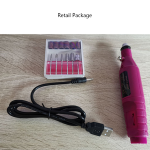 Image 5 - 15000 9W USB Professionale Elettrico di Pedicure del Manicure Mini Portatile di Figura Della Penna Electric Nail Punta Del Trapano Set Cuticola Bit Ceramica