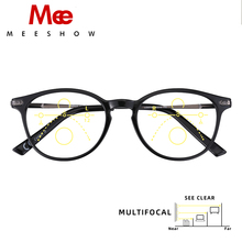 Meeshow Multifocal okulary do czytania elegancki Retro styl europejski damskie okulary okulary Lesebrillen + 1.0 + 1.5 + 2.0 + 2.5 1932