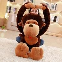 1pc 110cm huge size cartoon Big mouth monkey plush toy the Gorilla plush doll stuffed pillow for children playmates toy