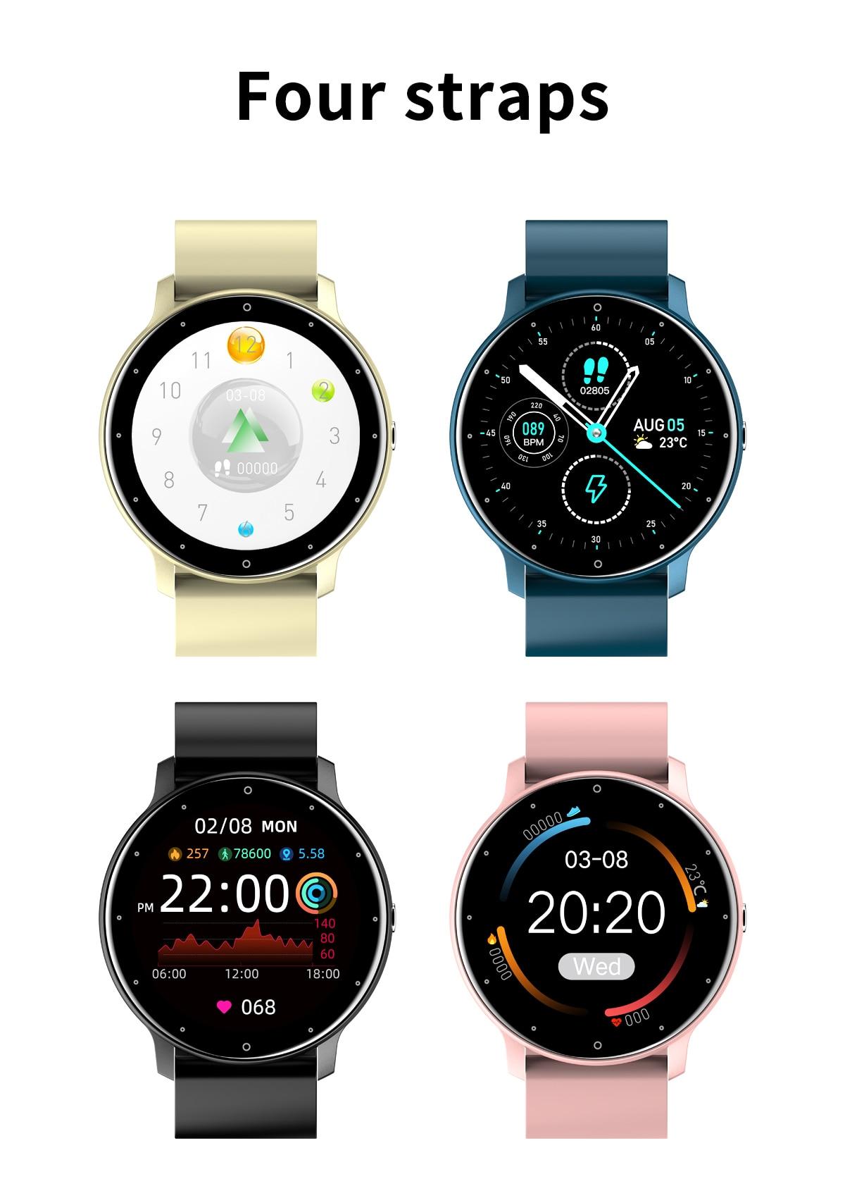 Hcc61ad1538a24c95a5dd79134065d485r LIGE 2021 Fashion Smart Watch Men Fitness Bracelet Heart Rate Blood Pressure Monitoring Sports Tracker Smartwatch Gift for Women