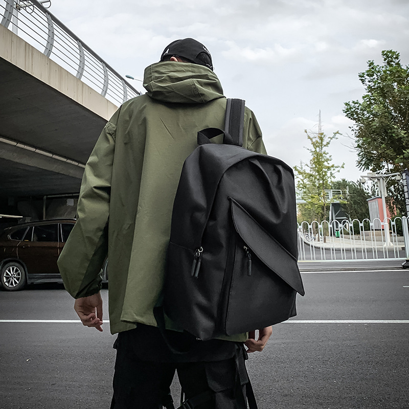 Simple Fashion Unisex Street Backpack Men All-match Dainty College Cloth Bag Teenagers Casual Outdoor Travel Bags Mochila DF496