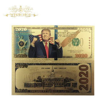 Nowy projekt dla 10 sztuk partia ameryki 2020 #8217 s Trump banknotów 2020 banknot dolarowy jak Bill waluty prezenty darmowa wysyłka tanie i dobre opinie FGHGF Patriotyzmu Antique sztuczna Pozłacane 5 days after you paid America Souvenir collection Gold