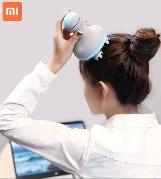 Xiaomi MINI Head Massager Octopus Electric Household Vibration Kneading Multifunction USB Charging Artifact Head Instrument mi