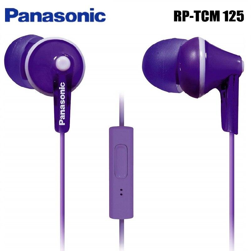 Оригинальные RP-TCM125 наушники-вкладыши Panasonic, музыкальные наушники 3,5 мм, Универсальные наушники для мобильного телефона samsung Xiaomi huawei