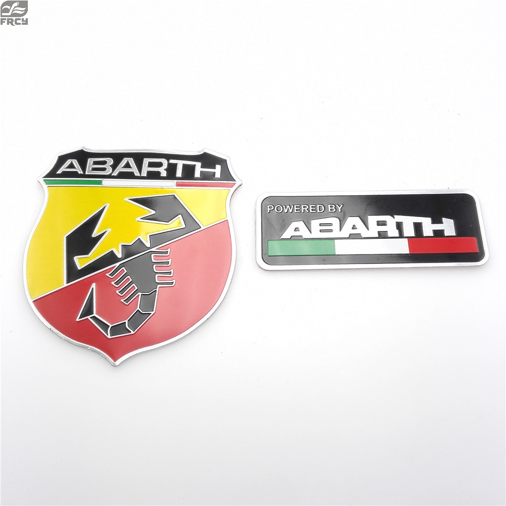 80*53mm FOR Abarth Sticker 80*30mm Abarth Labeling Car Alloy Badge Sticker Emblem Decal Sticker Car Sticker Car Styling USE