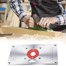 Router Table Multifunctional Aluminium Router Table Insert Plate Woodworking Benches Wood Router Trimmer Model Engraving Machine
