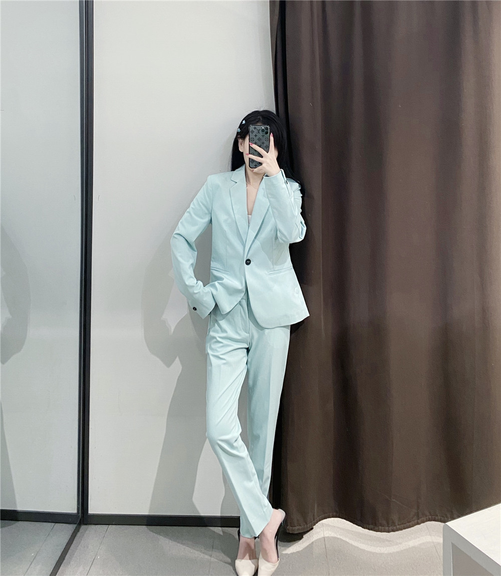 Hcc6234bfbd4f42349da312515d33f905k - Autumn Women Pant Suits Pink Single Button Blazer Jacket+Zipper Trousers Office Ladies Suits Two Piece Set Female Outwear