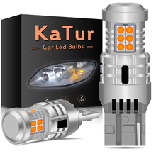 2x T20 W21W WY21W 7440 7440NA Led Richtingaanwijzer Lampen Canbus Foutloos Geen Hyper Flash 2800 Lumen Amber geel Wit Rood