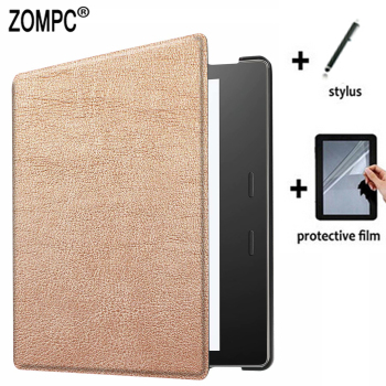 Ultra Slim Luxury Leather Case Lightweight Smart Cover + Screen Protector + Stylus for Amazon Kindle Oasis 9th 2017 10th 2019 7 for amazon kindle oasis 2019 kindle oasis 3 7 0 e reader transformer case for kindel oasis 2017 oasis 2 sleeve cover gift