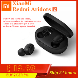 Xiaomi Redmi AirDots 2 Wireless Bluetooth Earphone 5.0 TWS Wireless Earbuds Left Right Low Lag Mode Stereo Auto Link Headset