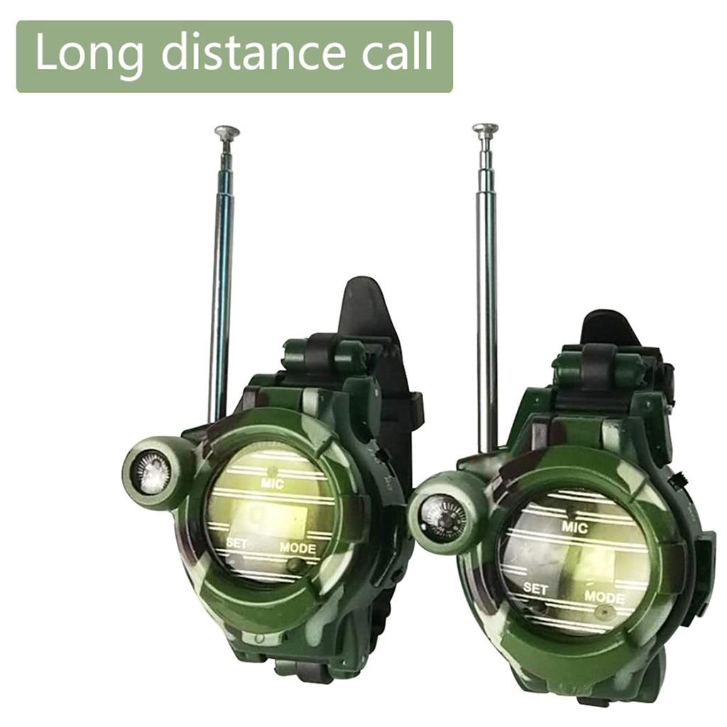 Watch Walkie Talkies For Kids Two-way Long Range Watch Radio Transceiver 7 In 1 Camouflage Military Watch Wireless Walkie-talkie
