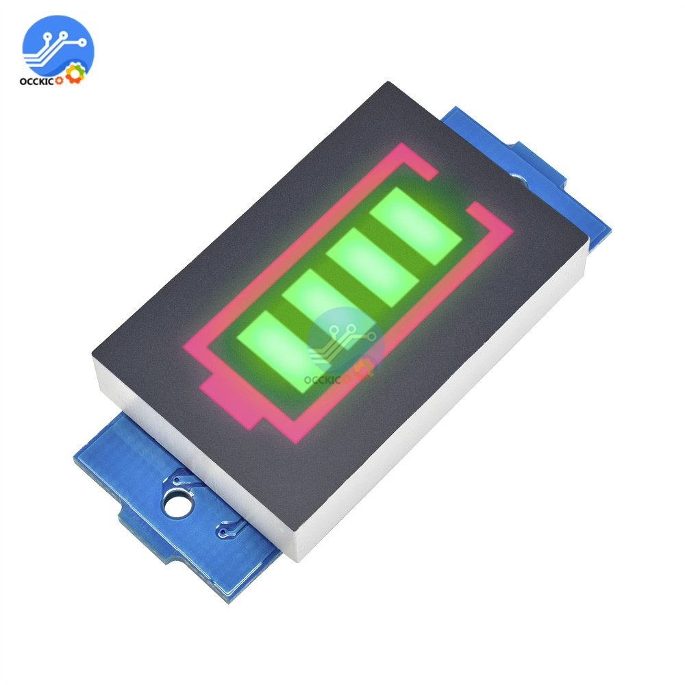 BMS 1S 2S 3S 4S 6S 7S 18650 Lithium Battery Capacity Indicator Green Backlight LED Display Power Bank Charge Accessory
