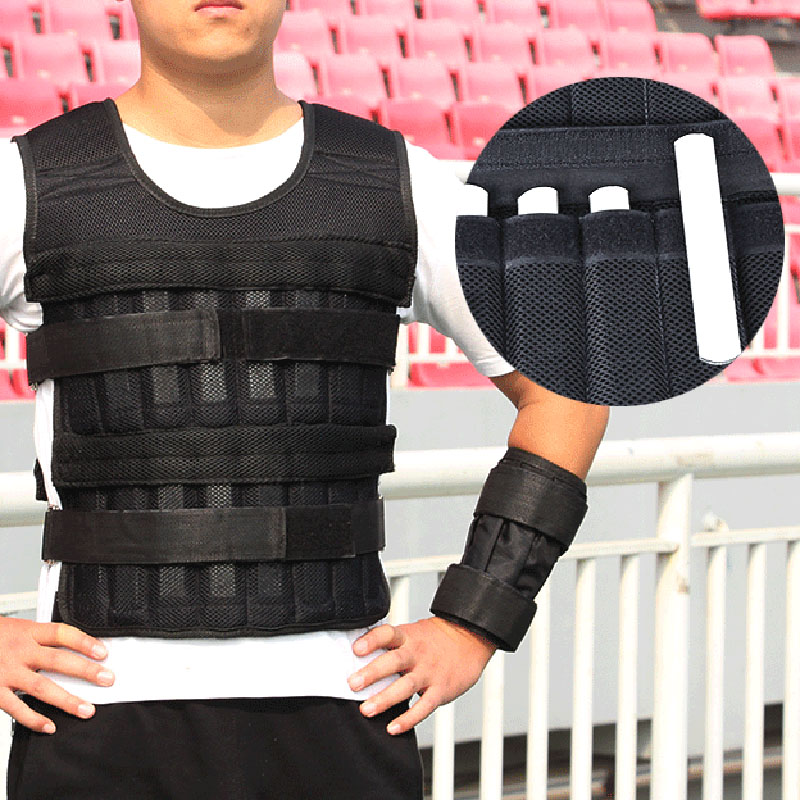 20kg Weighted Vest Adjustable Loading Weight Jacket Exercise Weightloading Vest Boxing Running Exercise Training Waistcoat