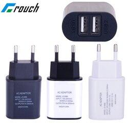 2 USB зарядное устройство 5 В 2 а EU штепсельный адаптер настенное зарядное устройство для мобильного телефона портативный зарядный микро кабе...